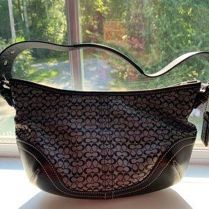 EUC small black Coach purse